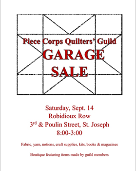 Garage Sale! Boutique Featuring Items Made by Guild Members
